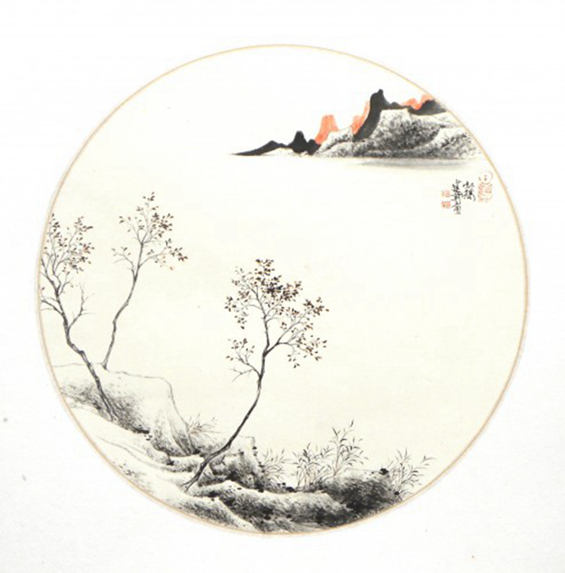 山水小品2 纸本水墨 国画 宝甄网